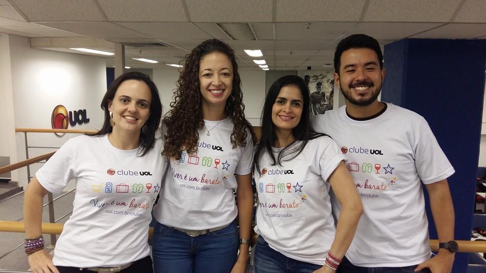 Equipe à frente do Projeto -  CRM/Vendas (Camila Bonis/Suellen Azevedo/Patrícia Ellen/Kleber Nakamura) – responsáveis pela Divulgação e Comunicação do Clube